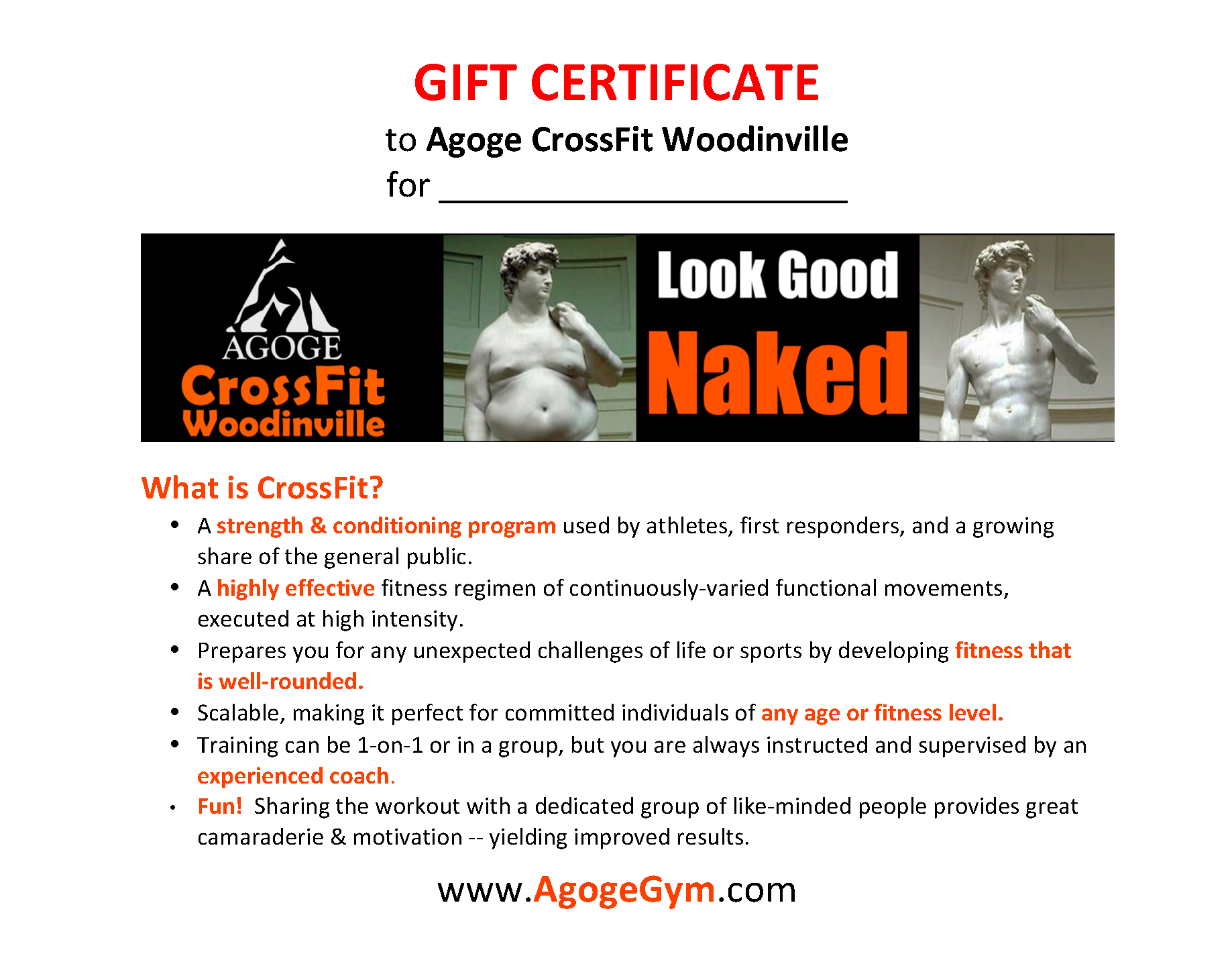 Gift Certificate Template  Personal Training Gift Certificate Template