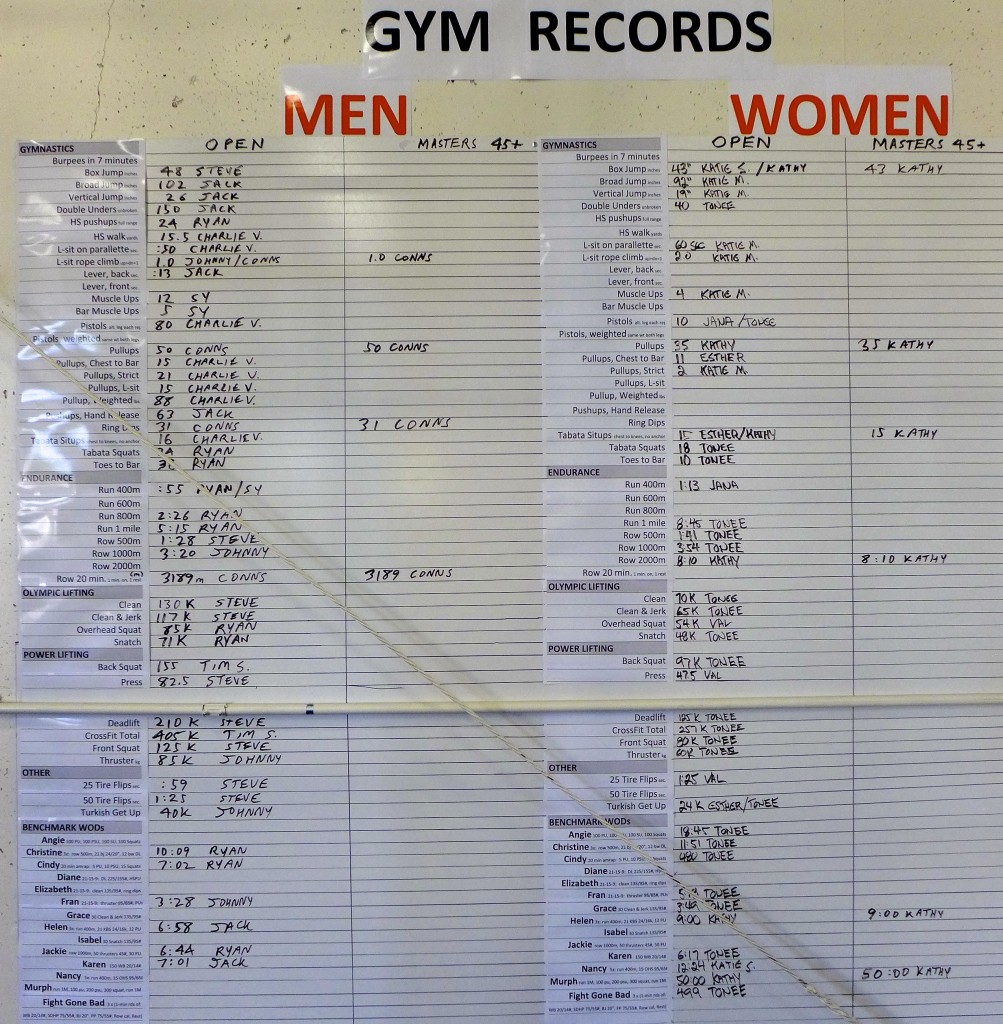 Tracking boards for Gym & Personal Records - AGOGE ...
